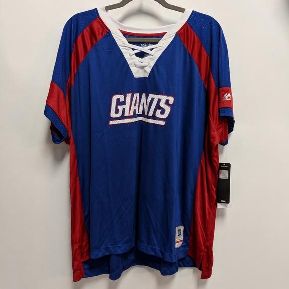 NFL Majestic New York Giants T-Shirt Jersey 2X c5234a241